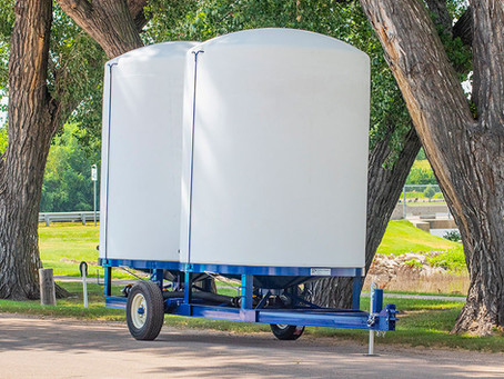 Cone Bottom Liquid Fertilizer Storage Trailers