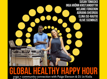 Join in on Africa Yoga Project Global Healthy Happy Hour Europe coming Friday at 7 pm Zurich time...