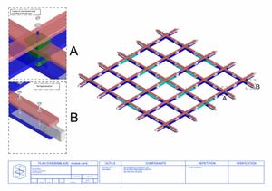Extrait d'un plan d'assemblage d'un module Ekilaya