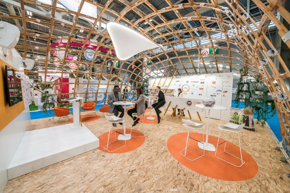 Photo du stand Ferme de France lors du salon de l'Agriculture