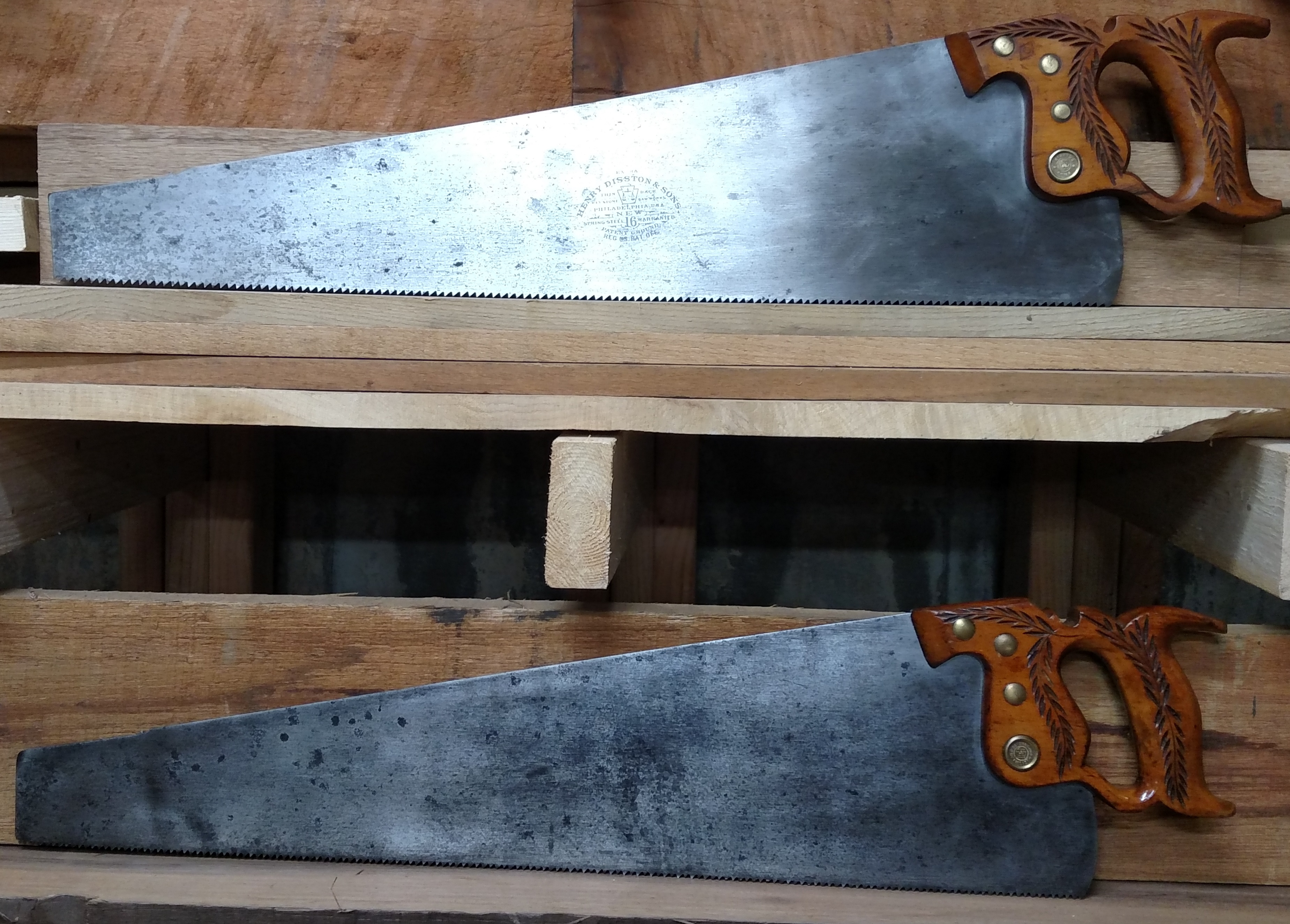 Disston No 16 pair restored