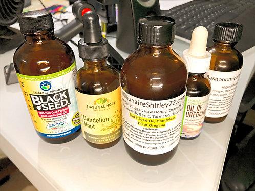 BillionaireShirley72- TikTonic,Oil of Oregano, Black Seed Oil, Dandelion (added)