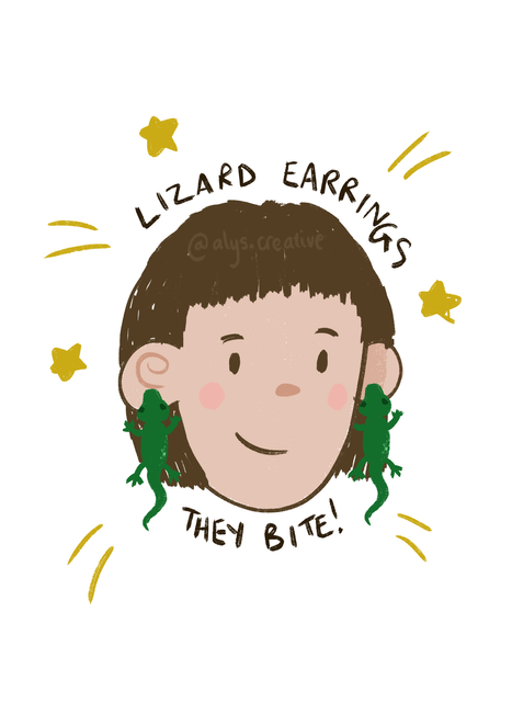 Paige Lewis - Lizard Earrings