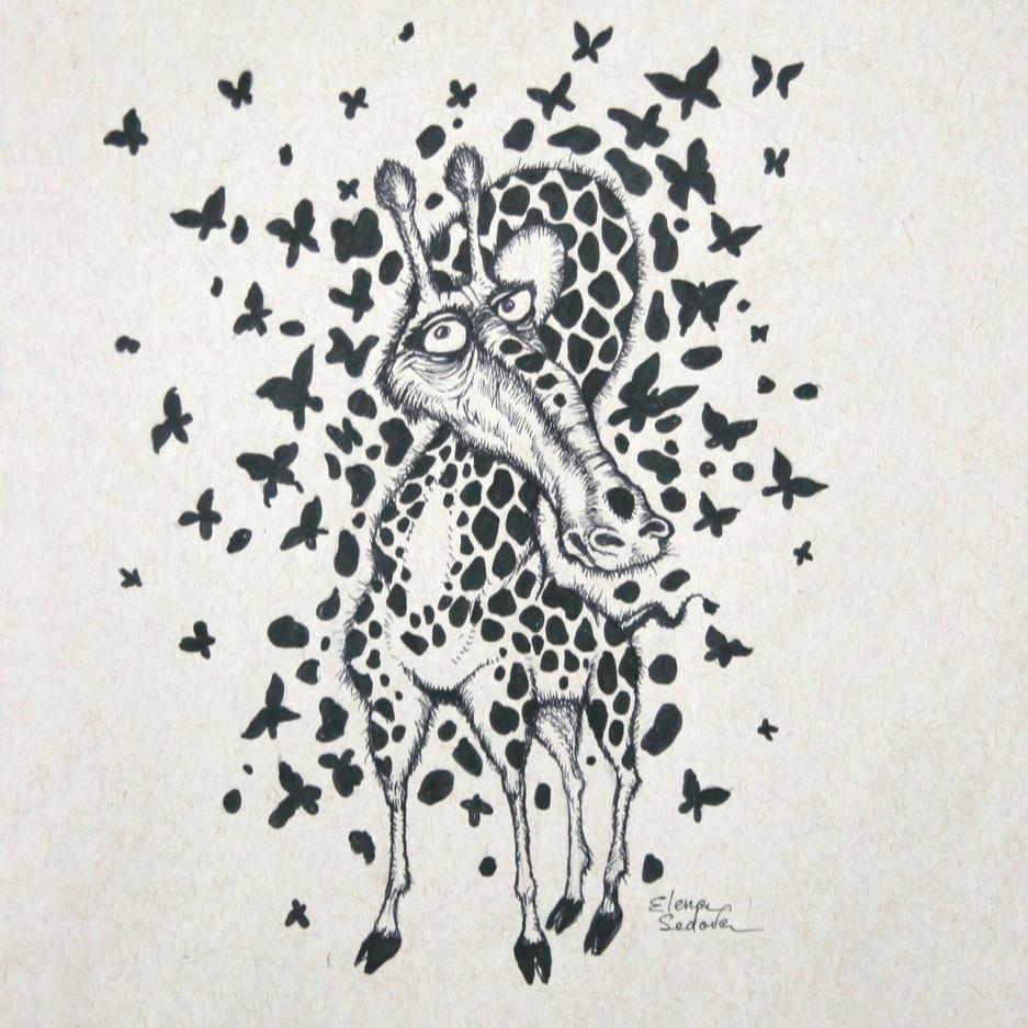 Design 05 - giraffe and butterflies - ph