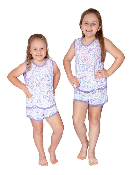 Pijama Infantil Regata em Malha Estampada