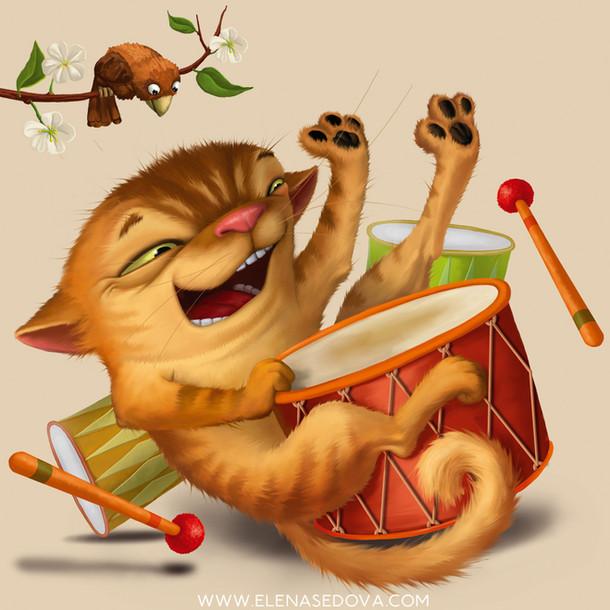 Cat ABC - illustrations by elena sedova.
