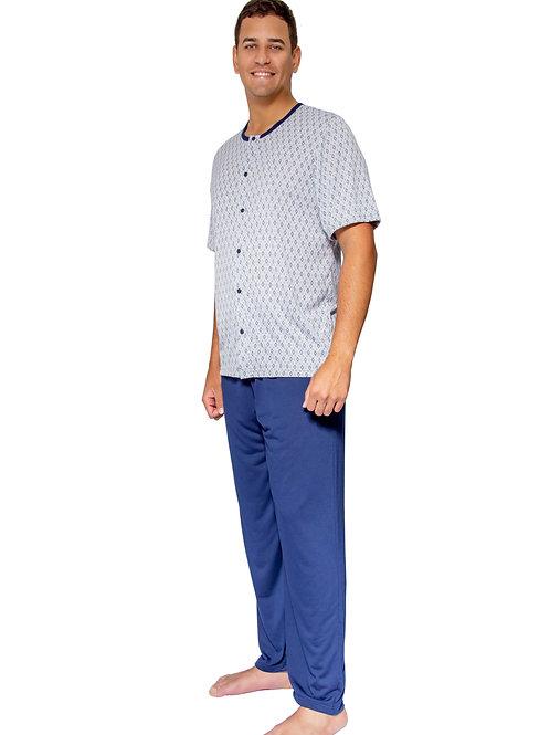 Pijama Masculino Manga Curta e Calça Comprida