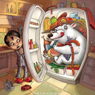 Sandwich - illustrations by elena sedova