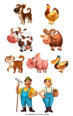 farm characters