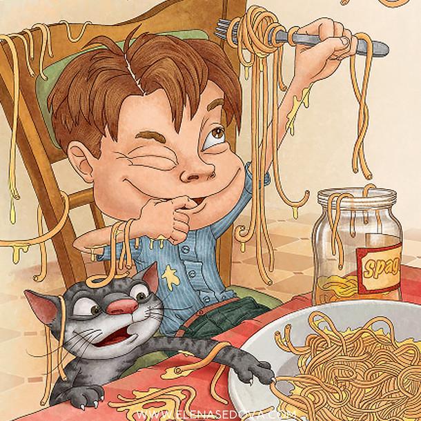Spaghetti Sam 2 - illustrations by elena