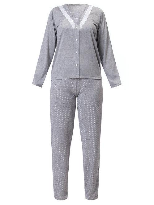 Pijama Longo com Abertura
