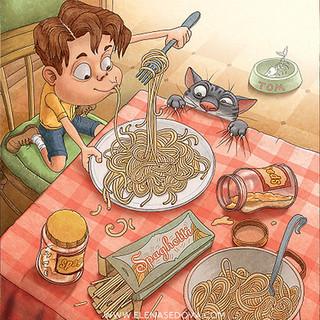 Spaghetti Sam - illustrations by elena s