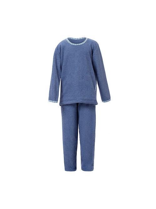 Pijama Infantil Longo em Plush Grosso Flanelado