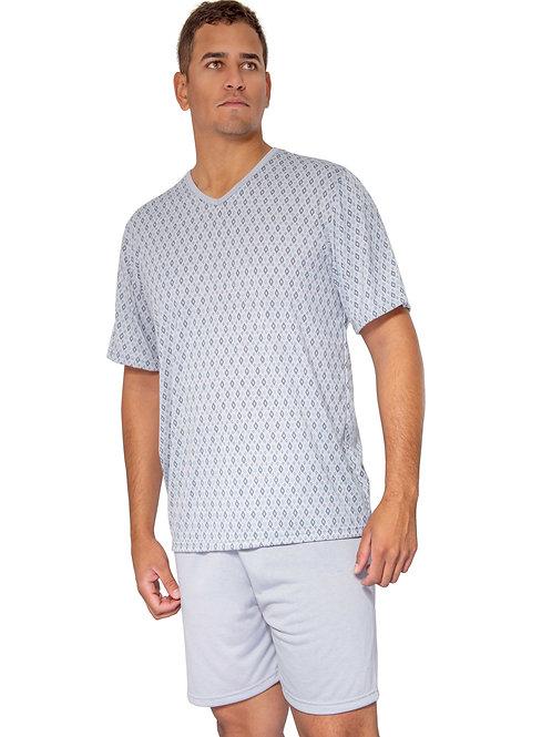 Pijama Masculino Manga Curta Estampado