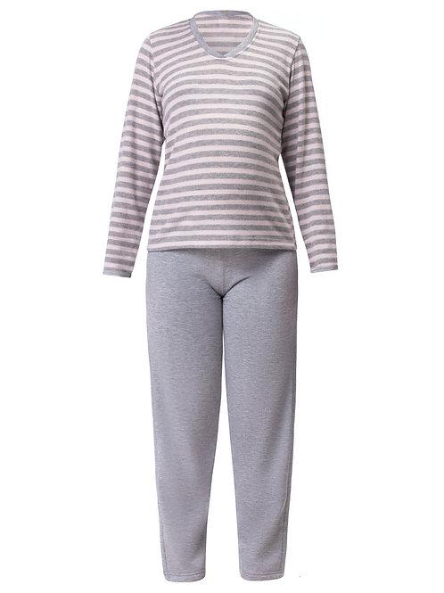 Pijama Longo Feminino em Plush Leve Flanelado