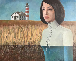 Lighthouse and Girl - clipped