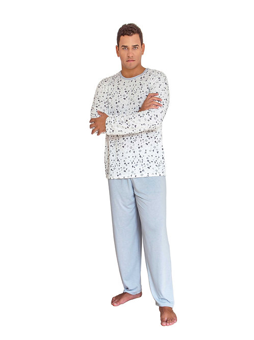 Pijama Longo Masculino Estampado