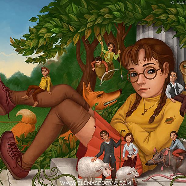 Miss M - illustrations by elena sedova.j
