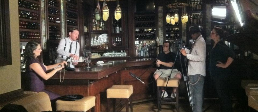 On set at Smith & Wollensky Steakhouse in New York City, The Return of Toodles Von Flooz
