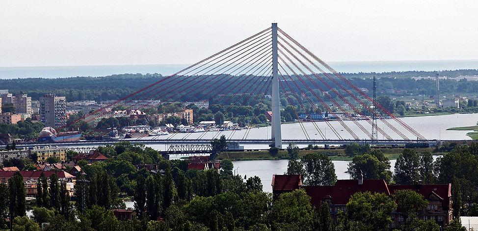 Most im. Jana Pawła II w GdańskunaMartwej Wiśle/ 2001
