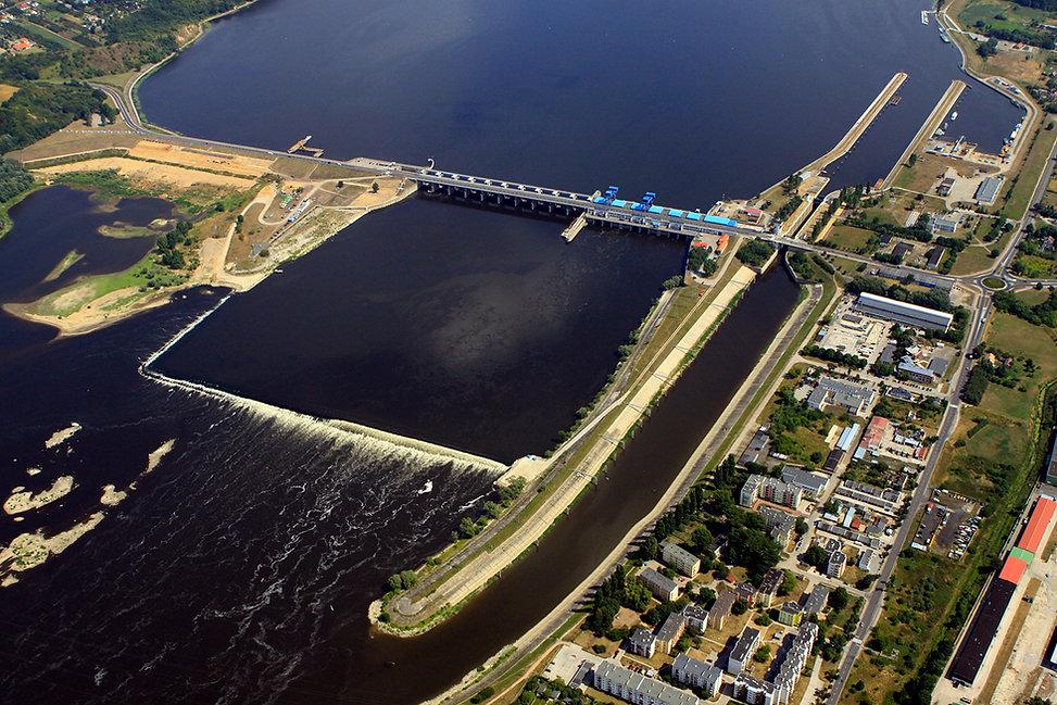 Висла /ГЭС Wloclawek/poland
