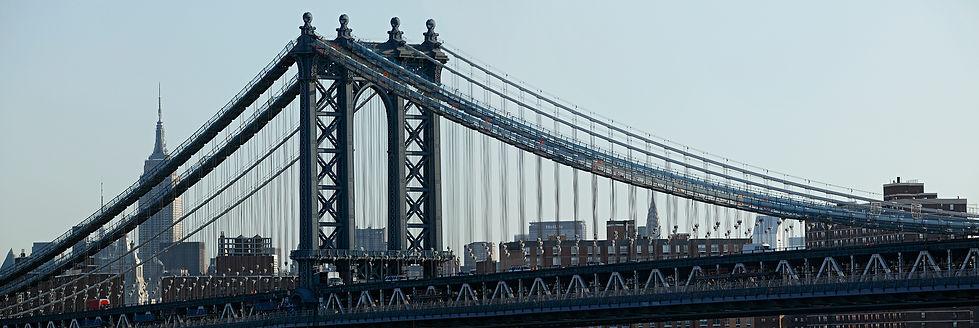 New York panoramas, bridge Manhattan
