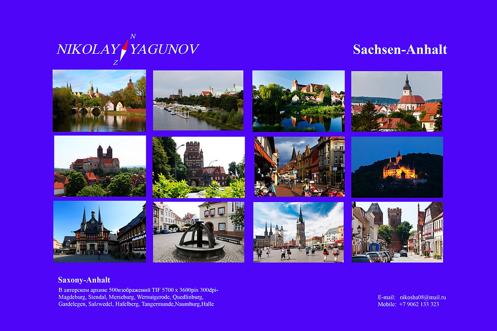 Hanse citys Magdeburg, Stendal, Merseburg, Wernuigerode, Quedlinburg, Gardelegen, Salzwedel, Hafelberg, Tangermunde