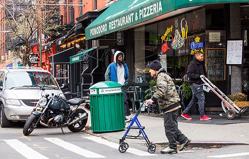 Mulberry Street and Spring Str / nyc