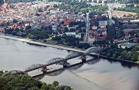 Most kolejowy im. Ernesta Malinowskiego/ Toruniu/ 1939