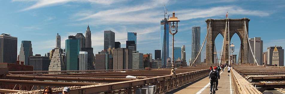 New York panoramas,Brooklin bridge
