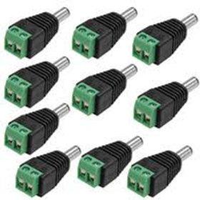 Conector de corrente macho p cameras