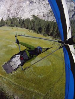 Chris Valley landing in Yosemite