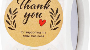"""1.5"""" Thank You Stickers, Thank You for Supporting"""