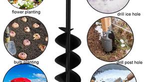 Garden Auger Drill Bit for Planting Dual-Blade