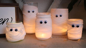How to make terrifying homemade candle holders for Halloween