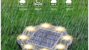 Solar Ground Lights, 8 LED Solar Garden Lights  One Day SALE