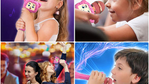Homily Karaoke Wireless Microphone for Kids Magic sound
