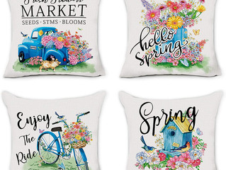 Hexagram Spring Pillow Covers