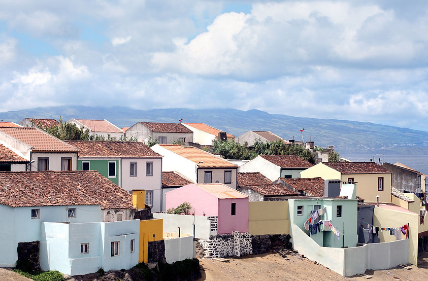 The View of houses on Sao Miguel island in the Azores