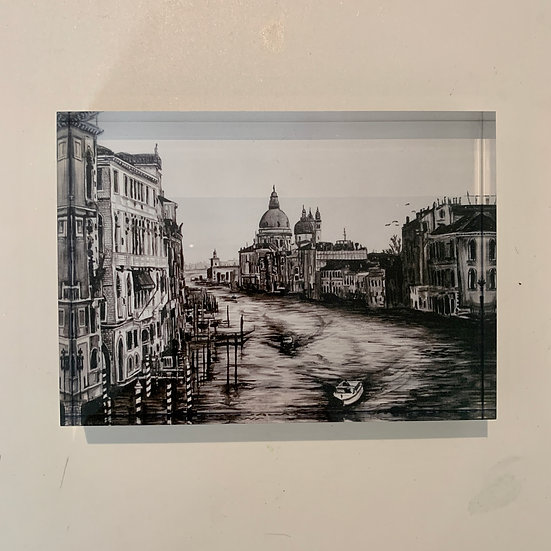 The Grand Canal from Pont Dell Accademia - Acrylic Block