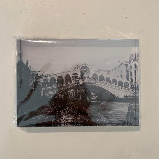The Realto Bridge - Acrylic Block
