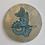 Thumbnail: Teal Taniwha Ureia gold drybrush 30cm