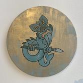 Teal Taniwha gold drybrush 20cm