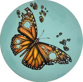 SOLD - Fractured - Butterfly with bullet holes in her wings