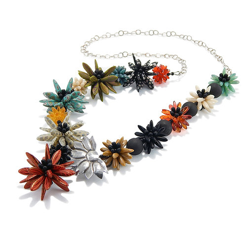 Daisy Field Necklace, Statement Necklace