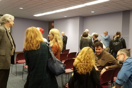 Gathering before Don Friedlich ecture