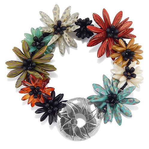 Daisy Patch Bracelet, Flowered Bracelet