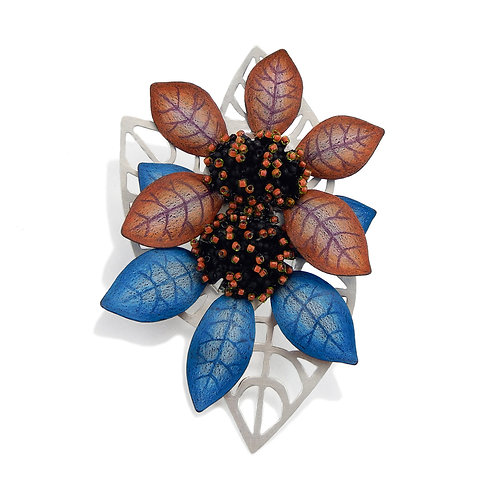 Two Blooms Brooch