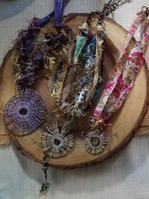 Lisa Koenig mixed media jewelry.