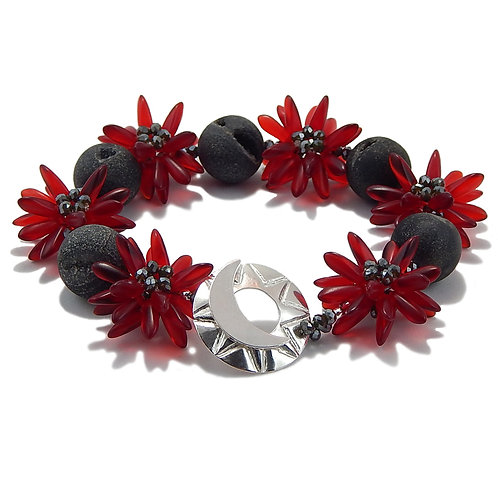 Red Star Flower - Bracelet